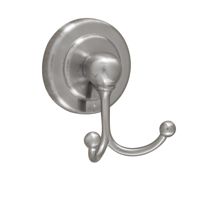Barclay Salander 2-Hook Satin Nickel Robe Hook