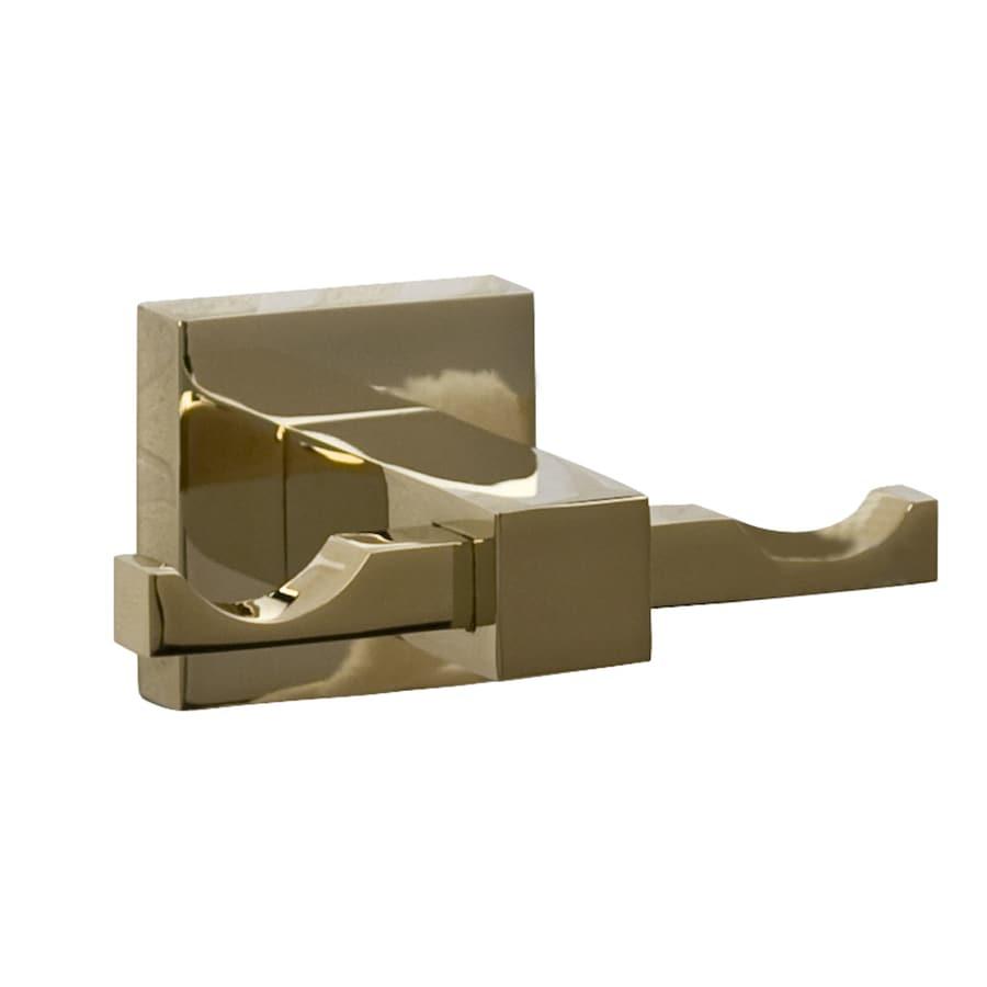 Barclay Jordyn 2-Hook Polished Brass Robe Hook