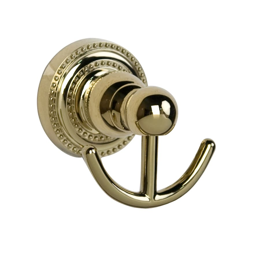Barclay Nevelyn 2-Hook Polished Brass Towel Hook