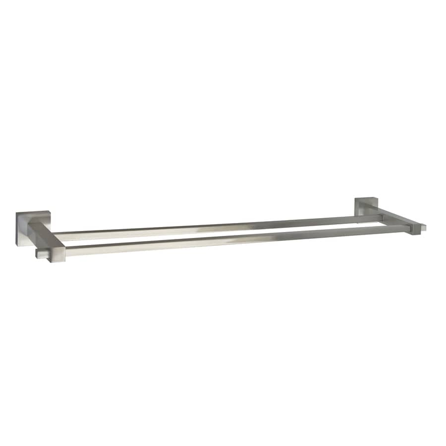 barclay jordyn brushed nickel double towel bar common 24 in actual
