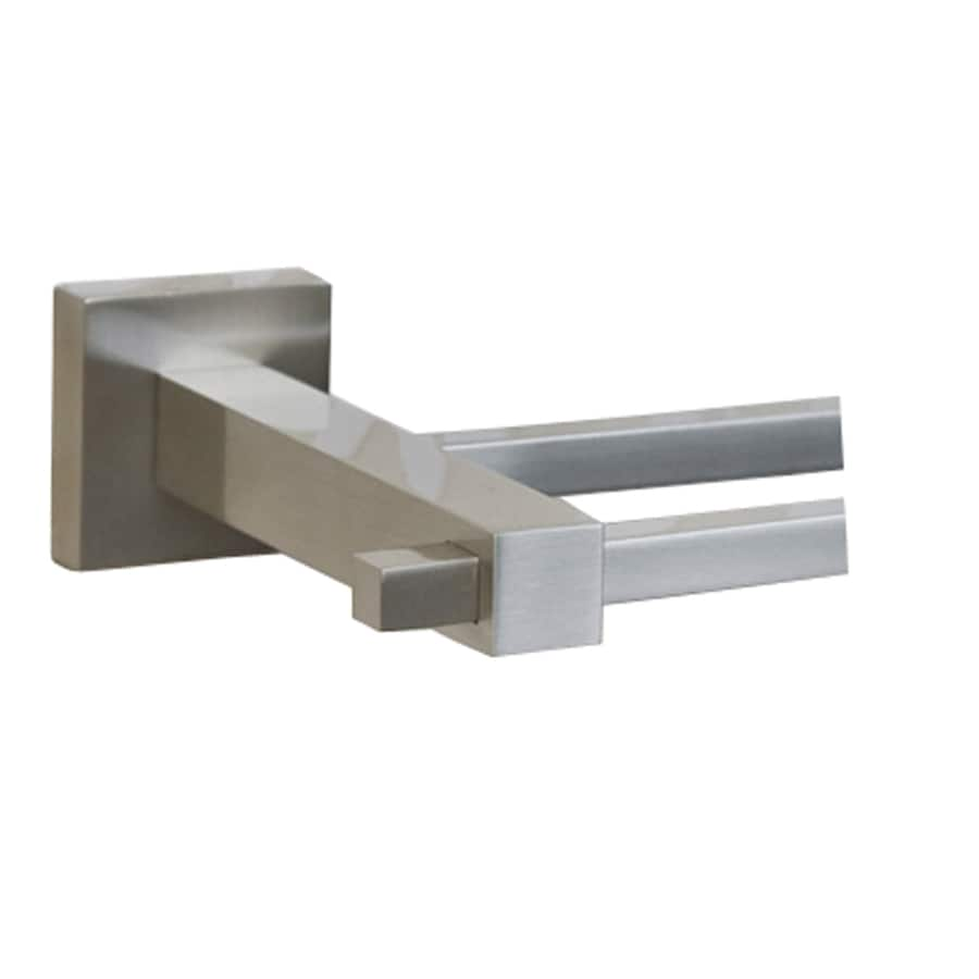 Barclay Jordyn Brushed Nickel Double Towel Bar (Common: 28-in; Actual: 28.62-in)