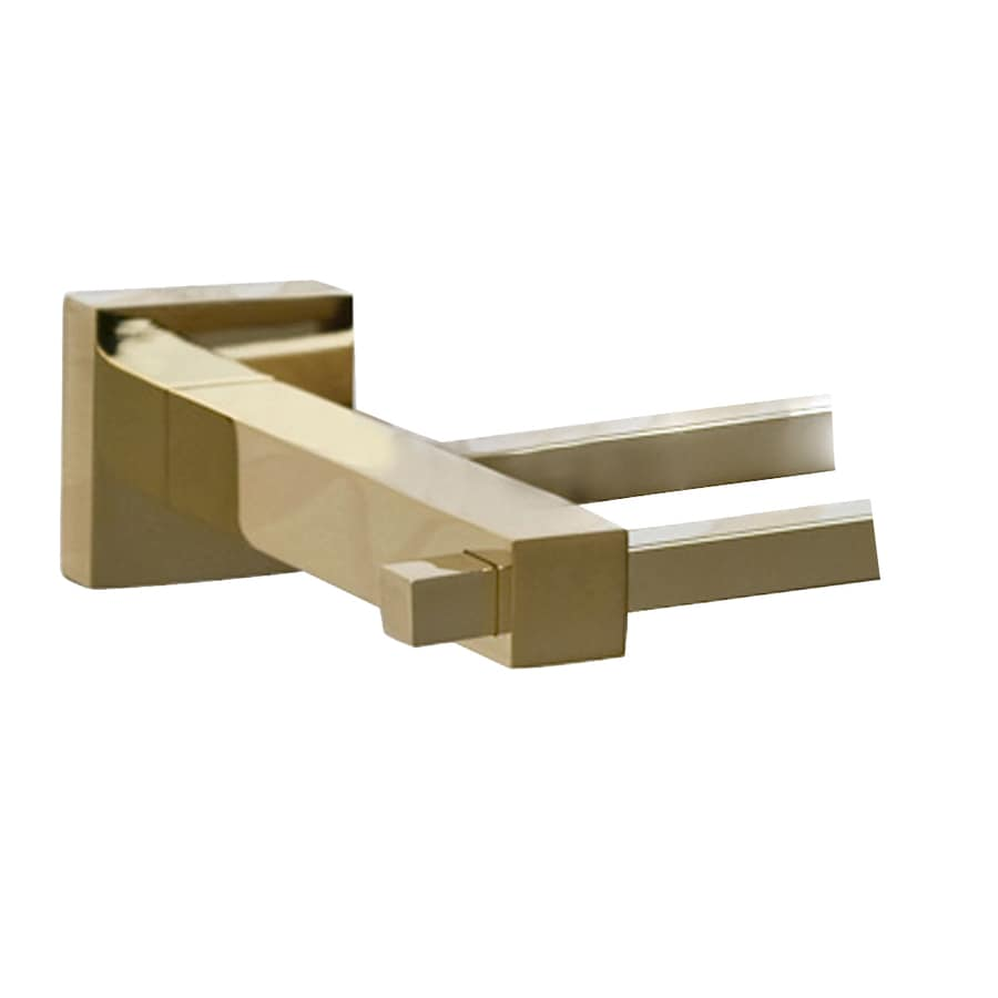 Barclay Jordyn Polished Brass Double Towel Bar (Common: 28-in; Actual: 28.62-in)