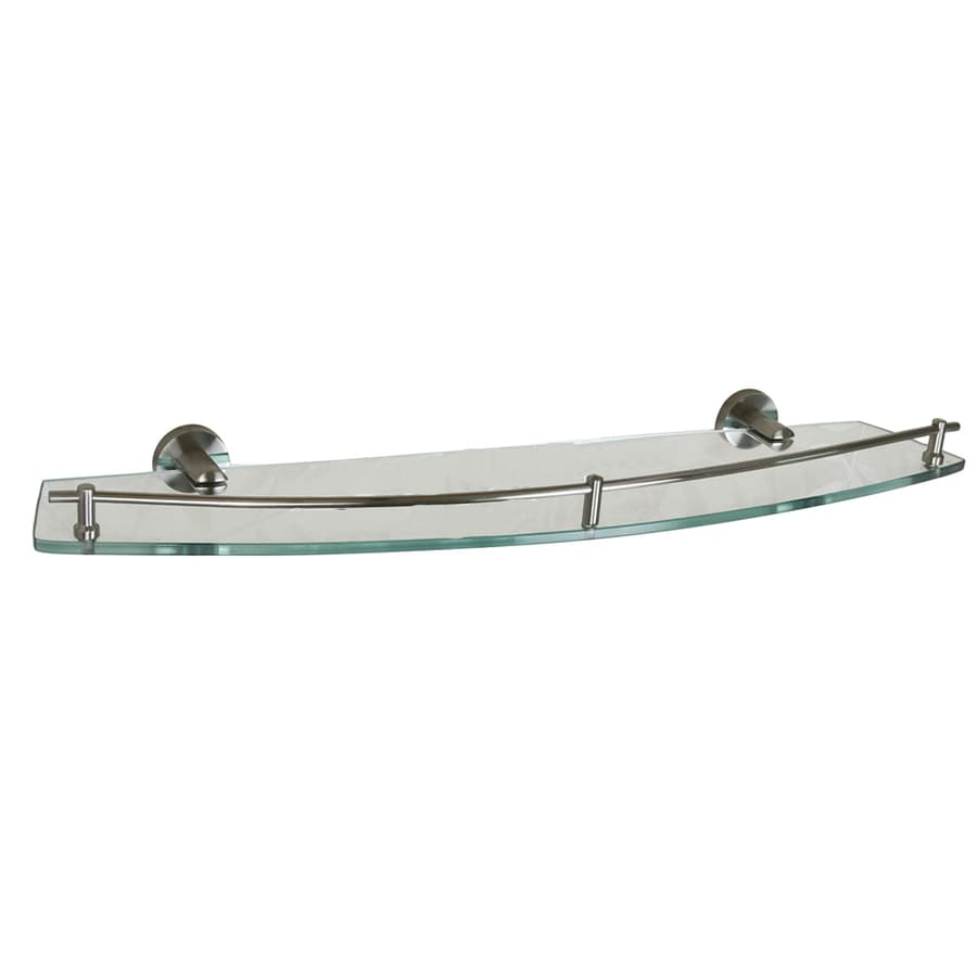 Shop Barclay Berlin Brushed Nickel Glass Bathroom Shelf at Lowes.com