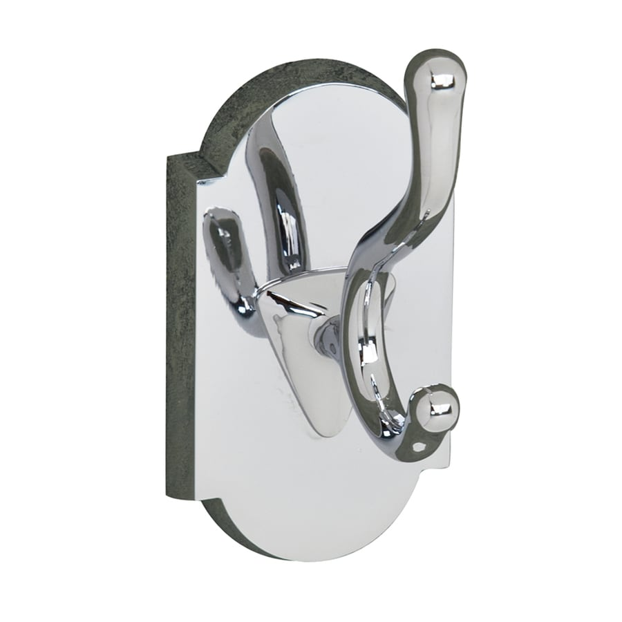Barclay Abril 2-Hook Chrome Robe Hook