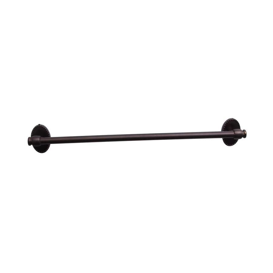 Barclay Cordelia Oil Rubbed Bronze Single Towel Bar (Common: 26-in; Actual: 25.62-in)