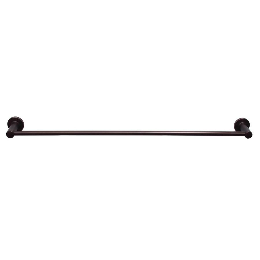 Barclay Flanagan Oil Rubbed Bronze Single Towel Bar (Common: 24-in; Actual: 24.37-in)