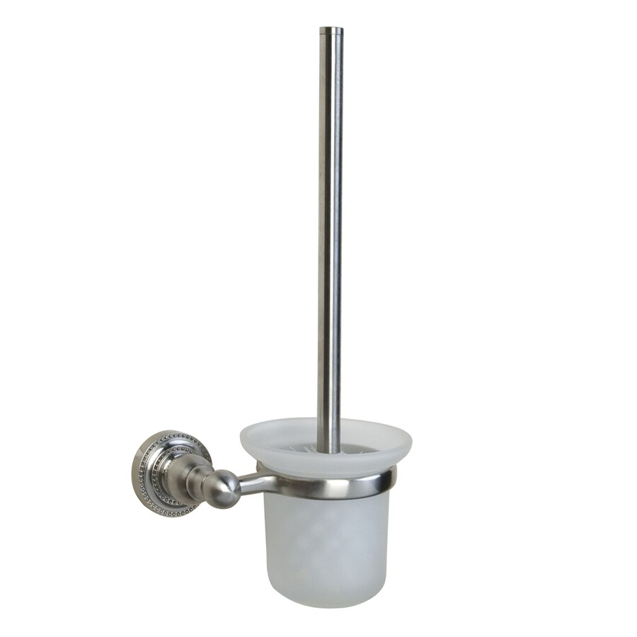 shop barclay nevelyn brushed nickel brass toilet brush holder at. Black Bedroom Furniture Sets. Home Design Ideas