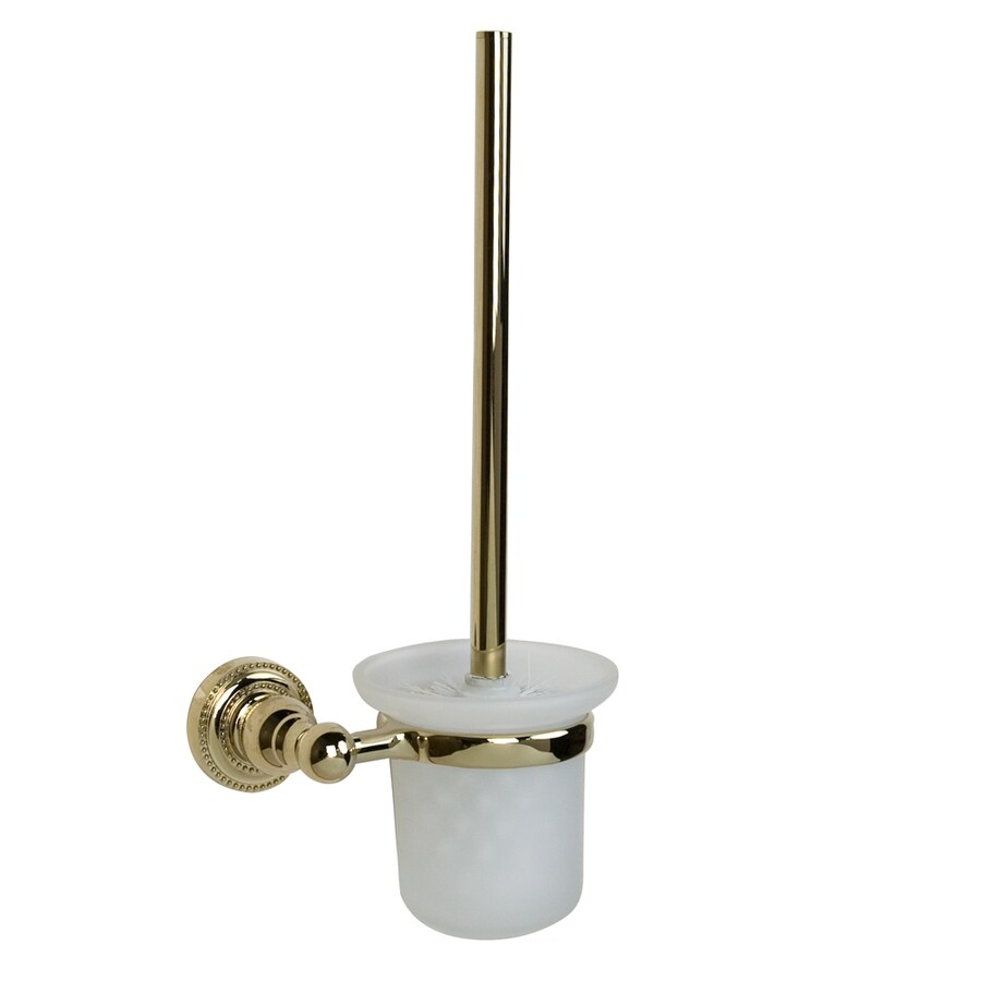 Barclay Nevelyn Polished Brass Brass Toilet Brush Holder