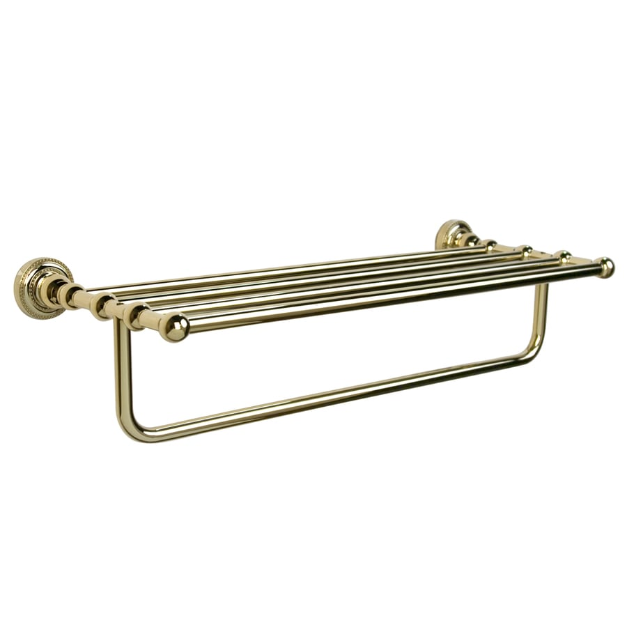 Polished Brass Bathroom Towel Bars: Shop Barclay Nevelyn Polished Brass Rack Towel Bar (Common