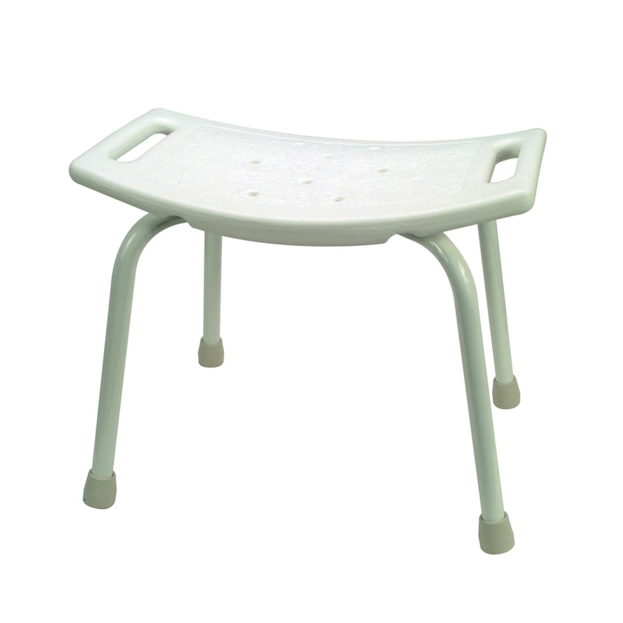Barclay White Plastic Freestanding Shower Seat