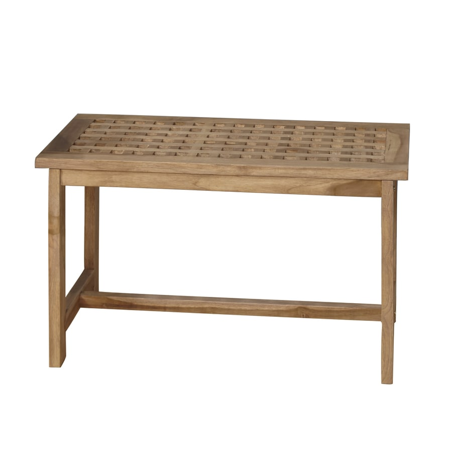 Barclay Honey Teak Freestanding Shower Seat