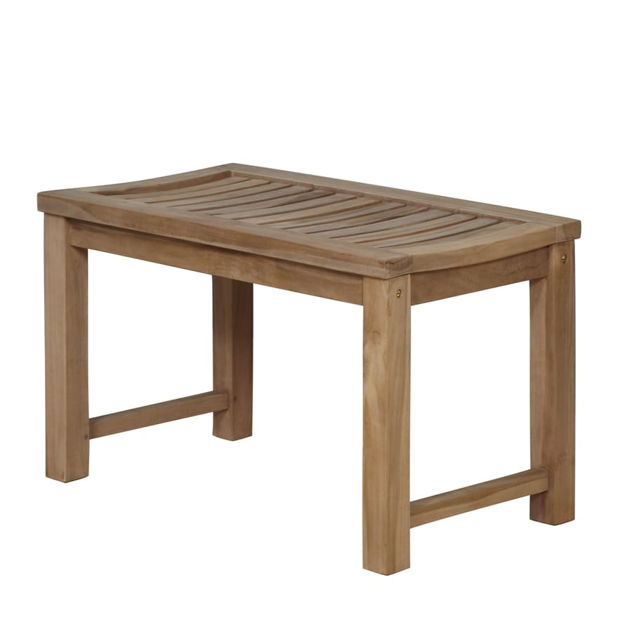 Shop Barclay Honey Teak Freestanding Shower Seat at Lowes.com