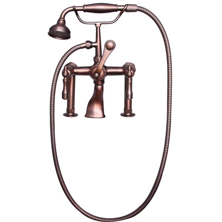 Barclay Oil Rubbed Bronze 3-Handle Deck Mount Bathtub Faucet