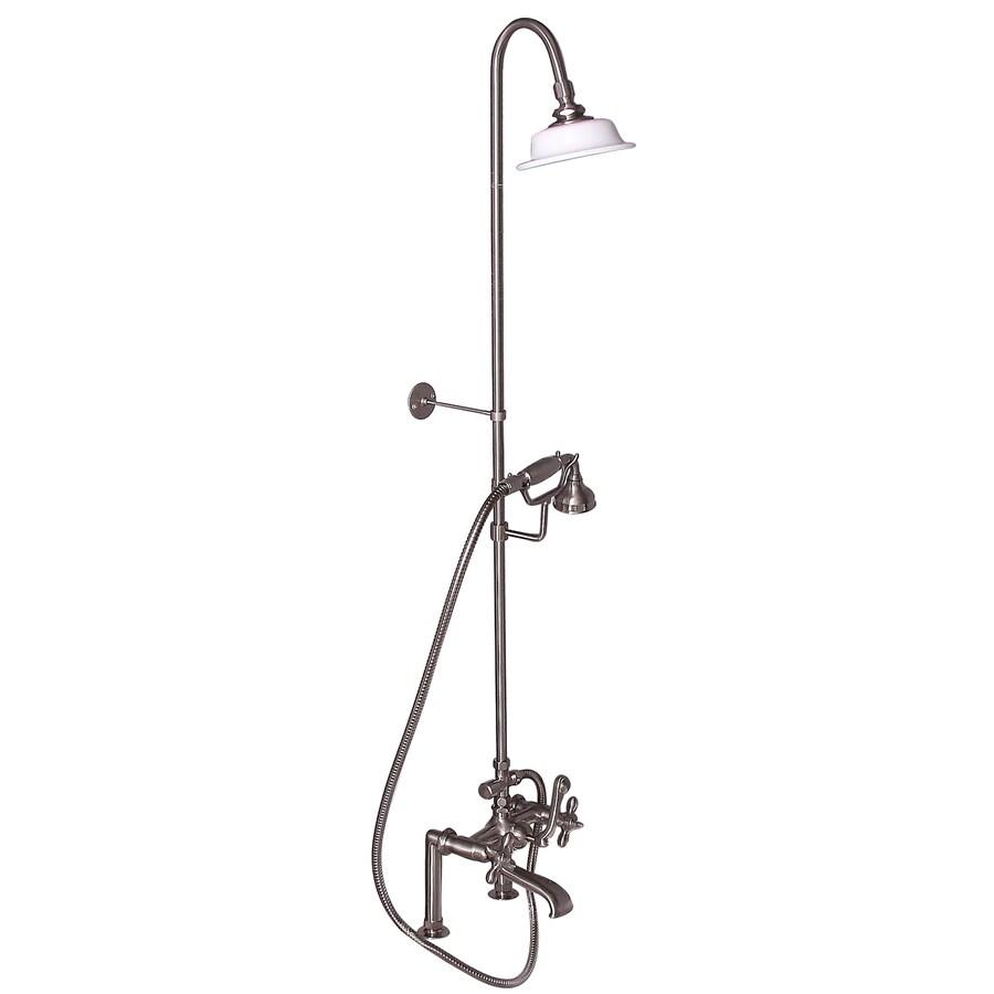 Barclay Brushed Nickel 3-Handle Deck Mount Bathtub Faucet