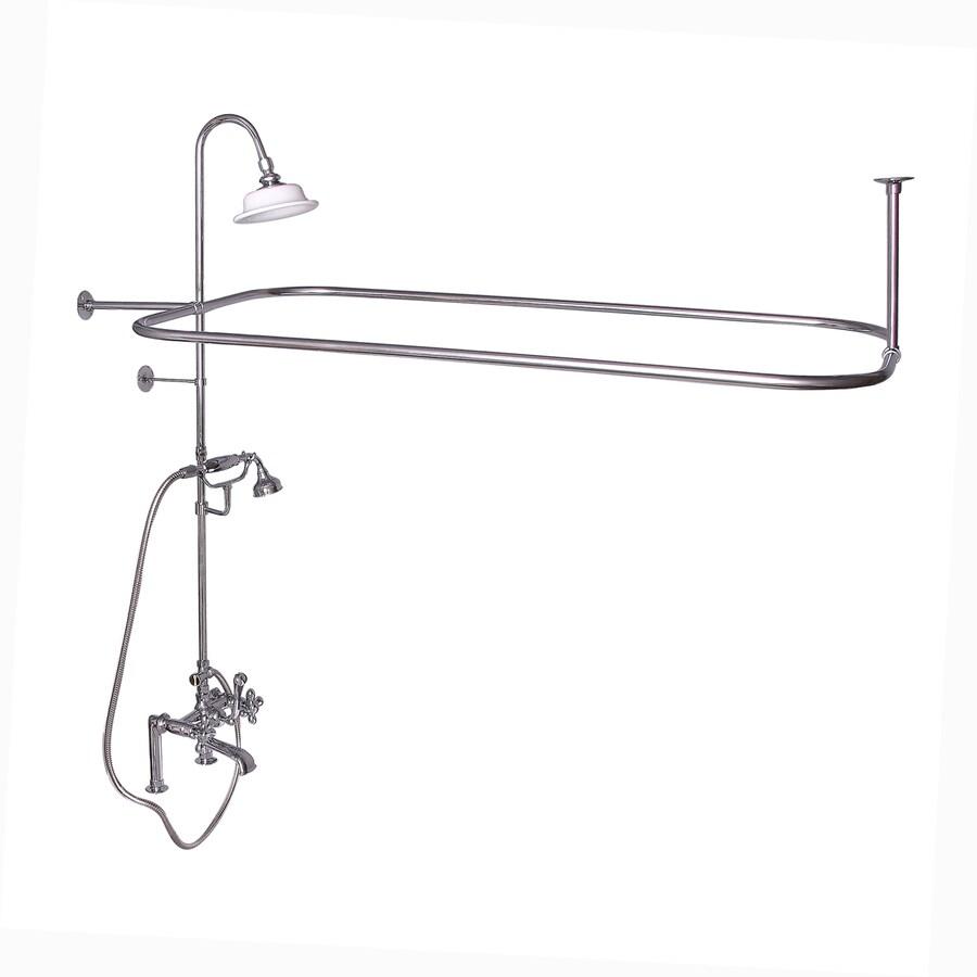 Barclay Polished Chrome 3-Handle Deck Mount Bathtub Faucet