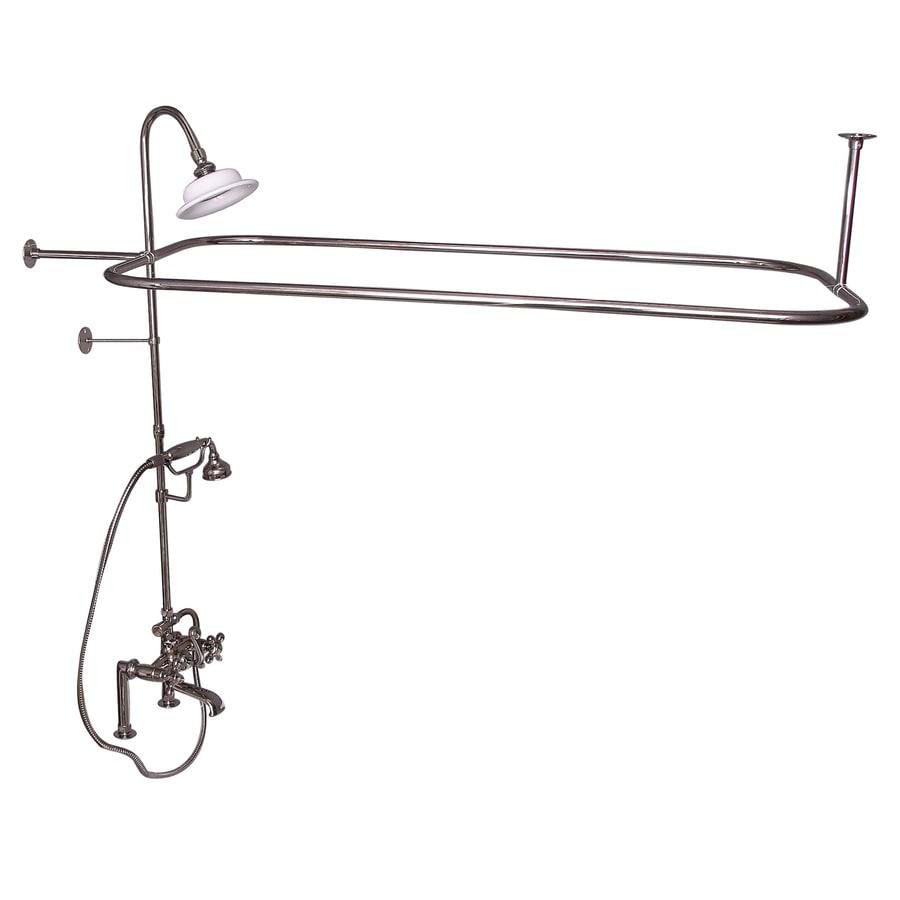 Barclay Polished Nickel 3-Handle Deck Mount Bathtub Faucet
