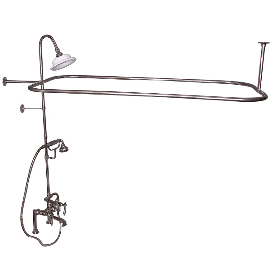 Barclay Polished Nickel 3-Handle Deck Mount Bathtub Faucet