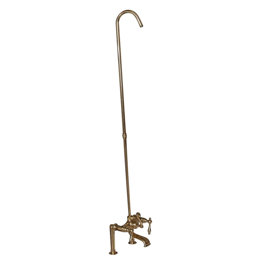 Shop Barclay Polished Brass 3 Handle Deck Mount Bathtub