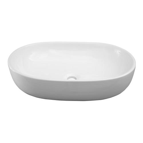 Barclay Kesha Above Counter Basin White Vessel Oval Bathroom Sink 16 62 In X 23 5 In In The Bathroom Sinks Department At Lowes Com