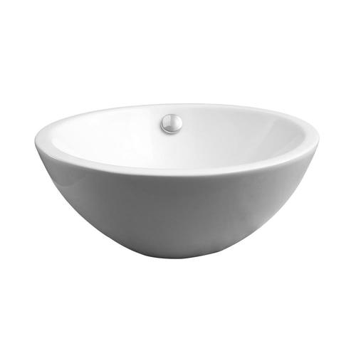 Barclay Dayton Above Counter Basin White Vessel Oval Bathroom Sink With Overflow Drain 15 37 In X 15 37 In In The Bathroom Sinks Department At Lowes Com