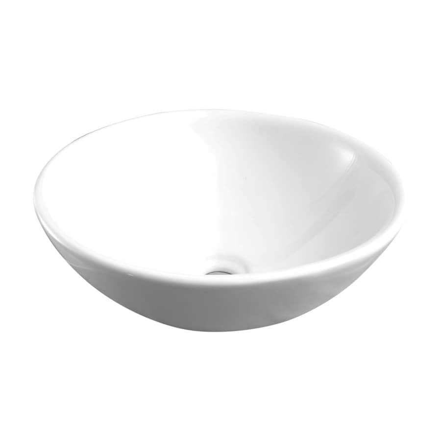 Barclay Decker Above Counter Basin White Vessel Oval Bathroom Sink 15 75 In X 15 75 In In The Bathroom Sinks Department At Lowes Com
