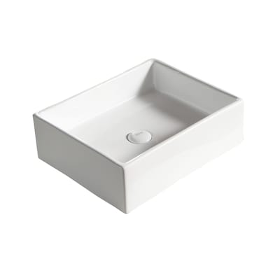 Barclay Redkey Above Counter Basin White Vessel Square ...