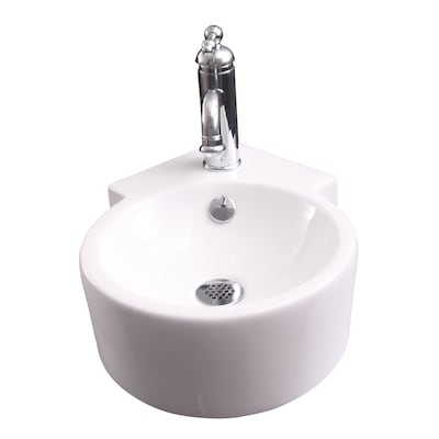 Barclay Dyer Corner Wall Hung Basin White Wall Mount Round