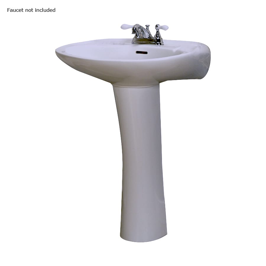 Barclay Devon 33.75-in H White Vitreous China Pedestal Sink