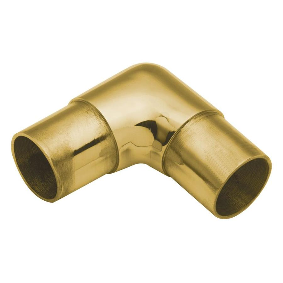 LIDO Designs 6-Pack Polished Brass Elbow Handrail Brackets