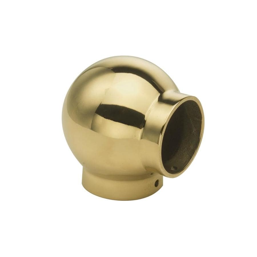Shop lido designs pack polished brass ball tee handrail
