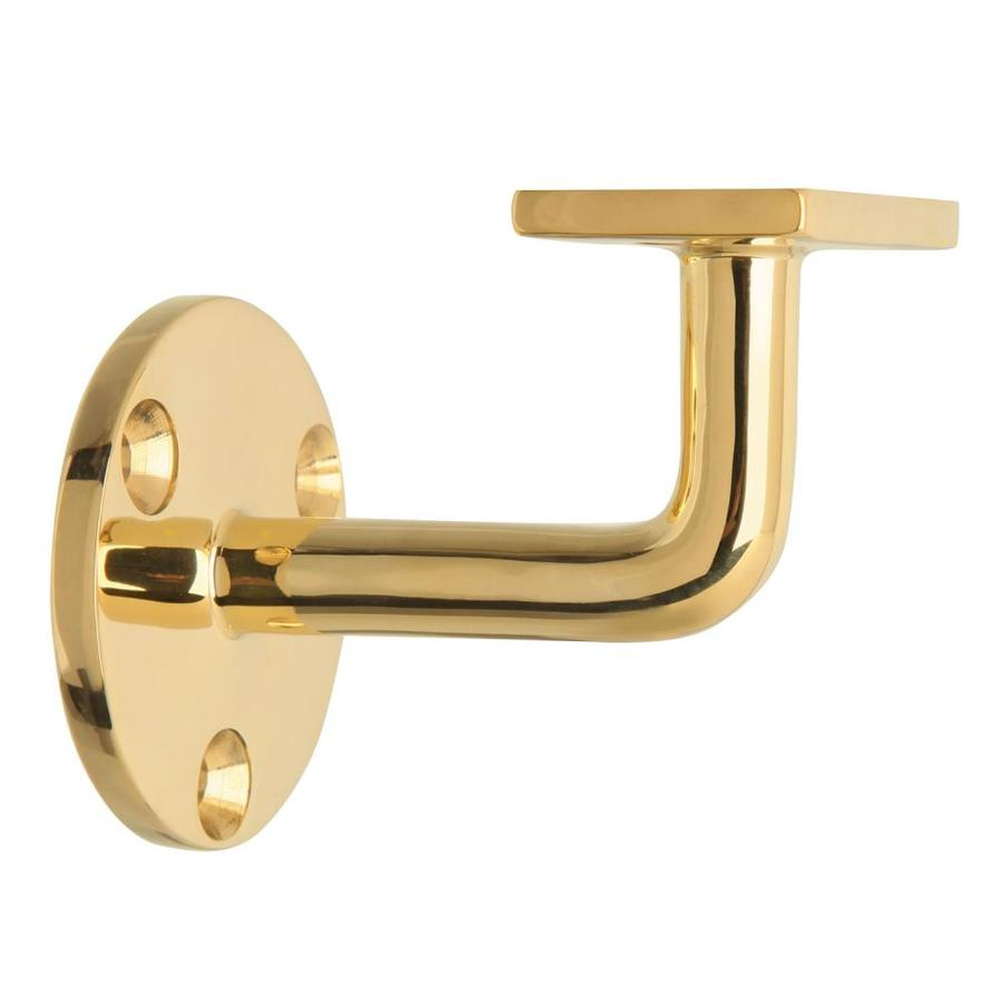LIDO Designs 8-Pack Polished Brass Line Bracket Handrail Brackets