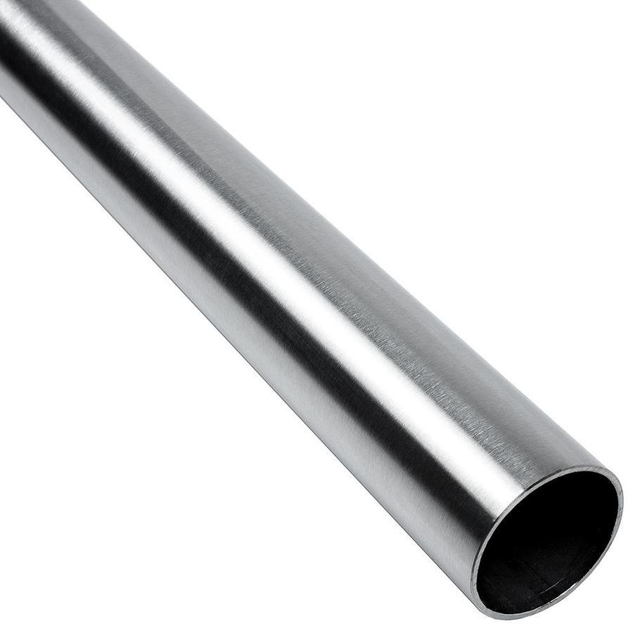 LIDO Designs Handrail Tube 1.5-in x 6 Foot Satin Stainless Steel Unfinished Stainless Steel Handrail