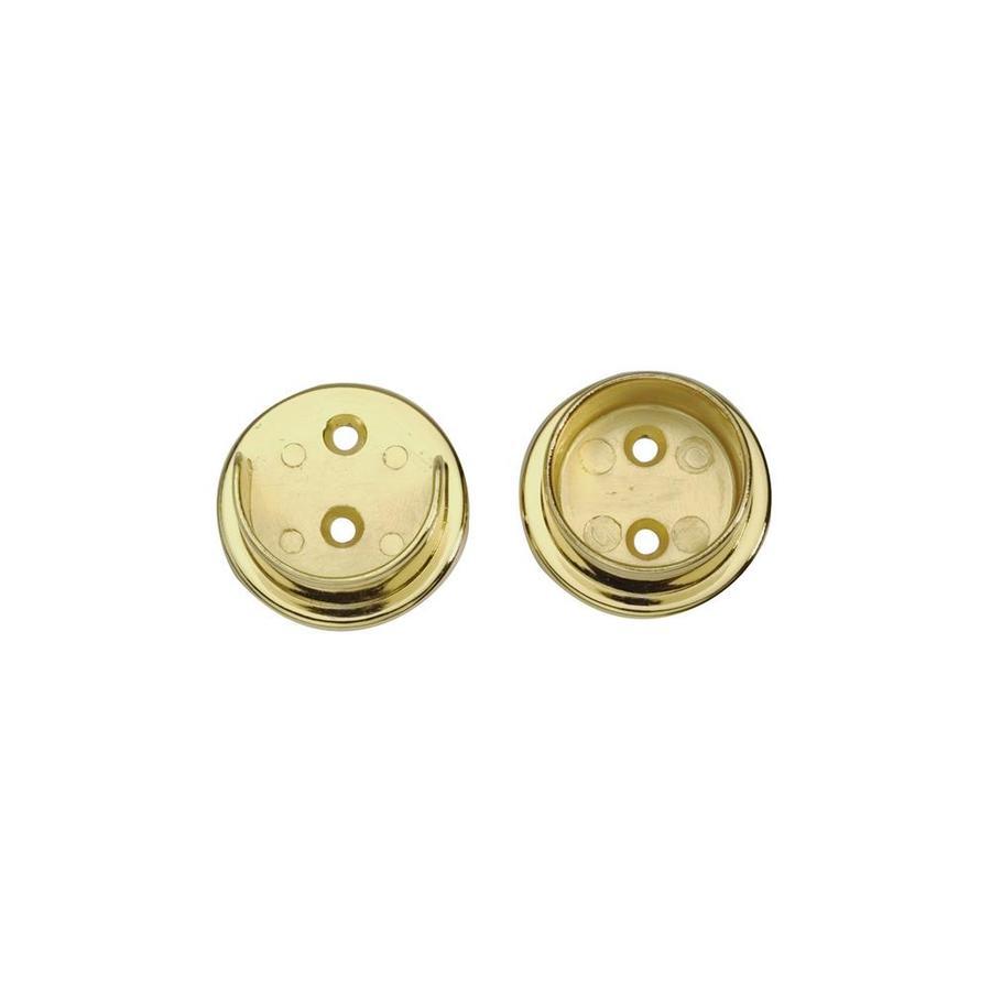 LIDO Designs 12-Pack Polished Brass Zinc Flange Handrail Brackets