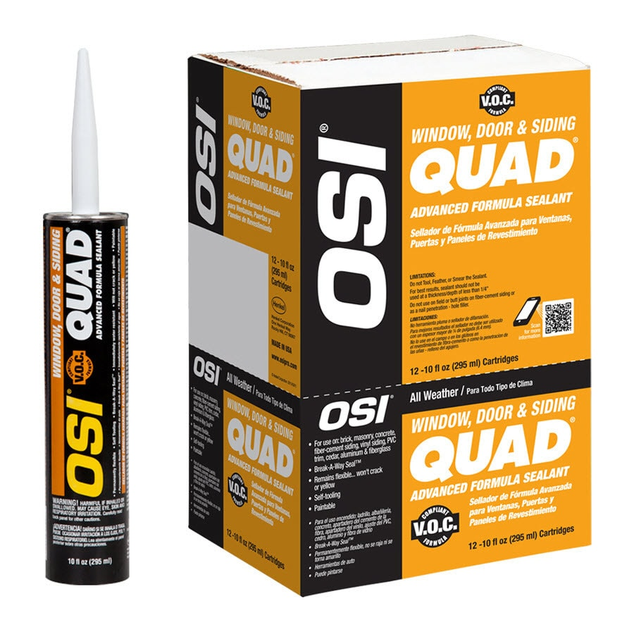 OSI QUAD 10-oz Brown Paintable Solvent-Based Window and Door Caulk