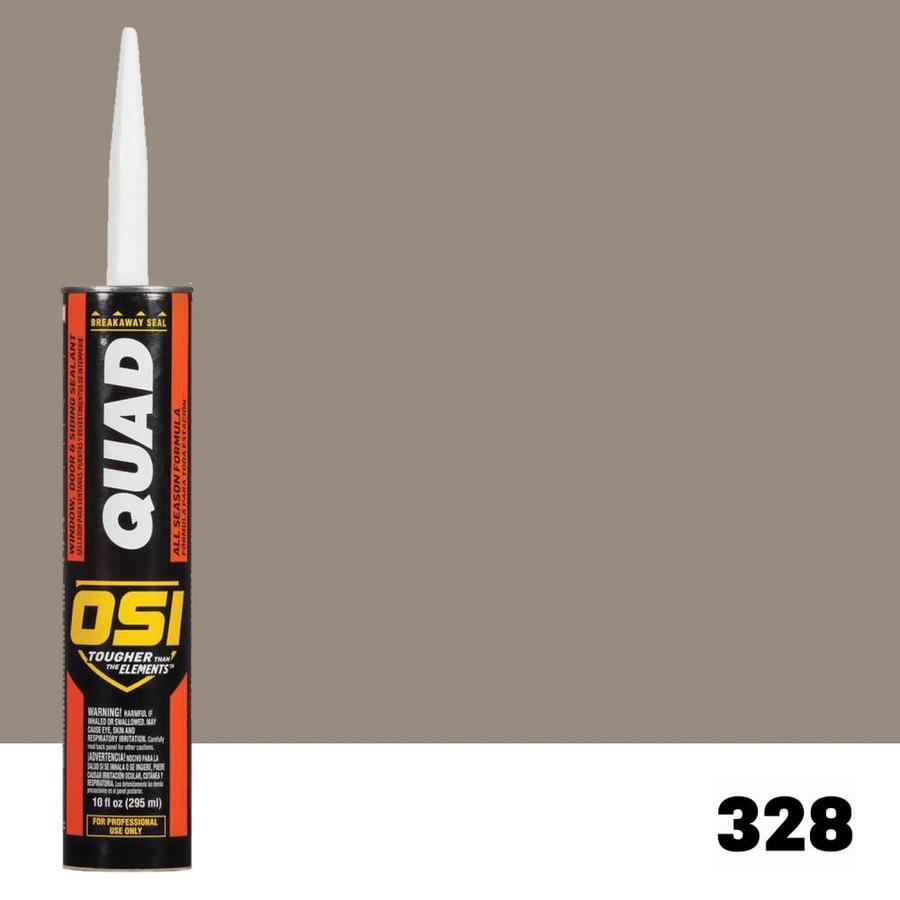 OSI QUAD Quad 10-oz Clay Paintable Solvent-Based Window and Door Caulk