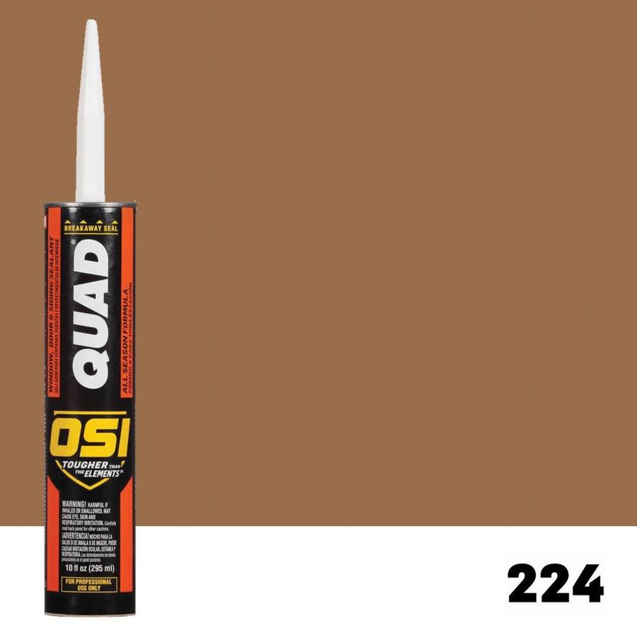 OSI QUAD Quad 10-oz Brown Paintable Solvent-Based Window and Door Caulk