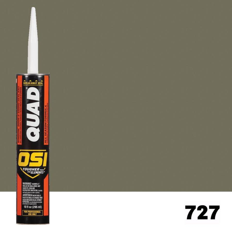 OSI QUAD Quad 10-oz Green Paintable Solvent-Based Window and Door Caulk