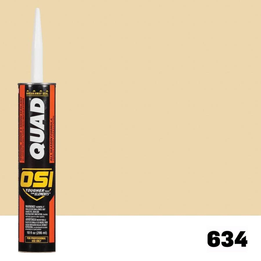 OSI QUAD Quad-Pack 10-oz Yellow  Paintable Caulk
