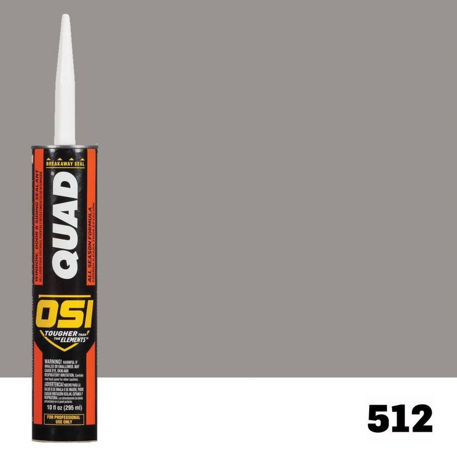 OSI QUAD Quad 10-oz Gray Paintable Solvent-Based Window and Door Caulk