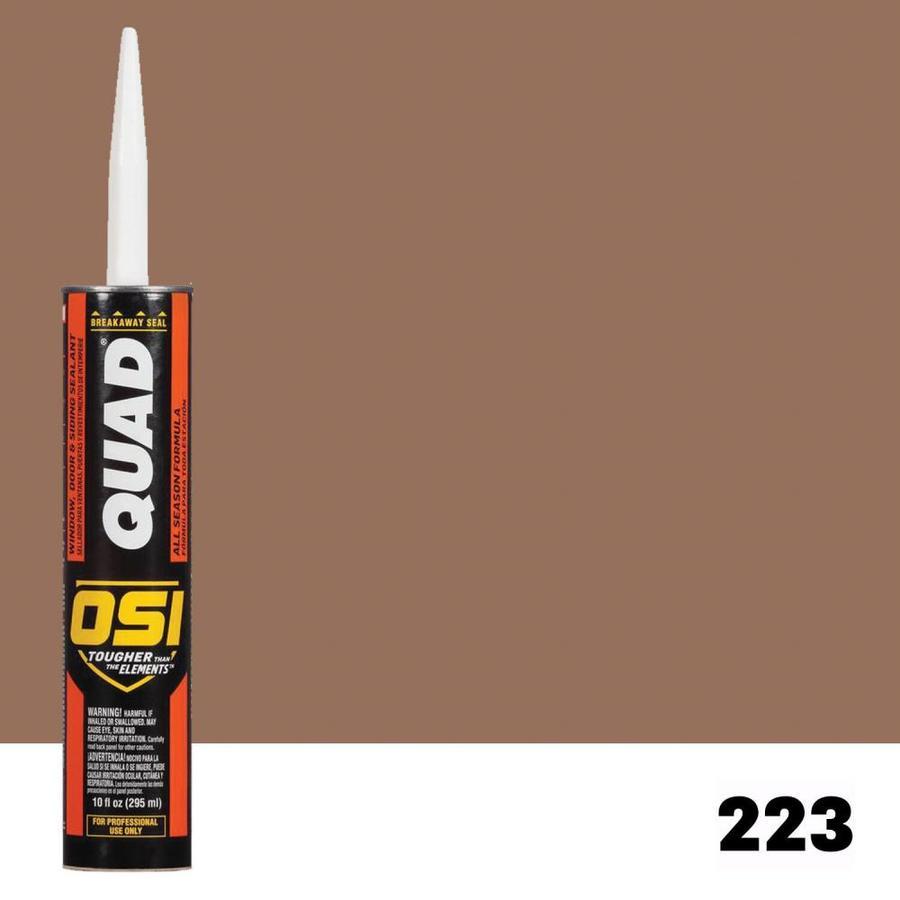 OSI QUAD QUAD-Pack 10-oz Brown  Paintable Caulk