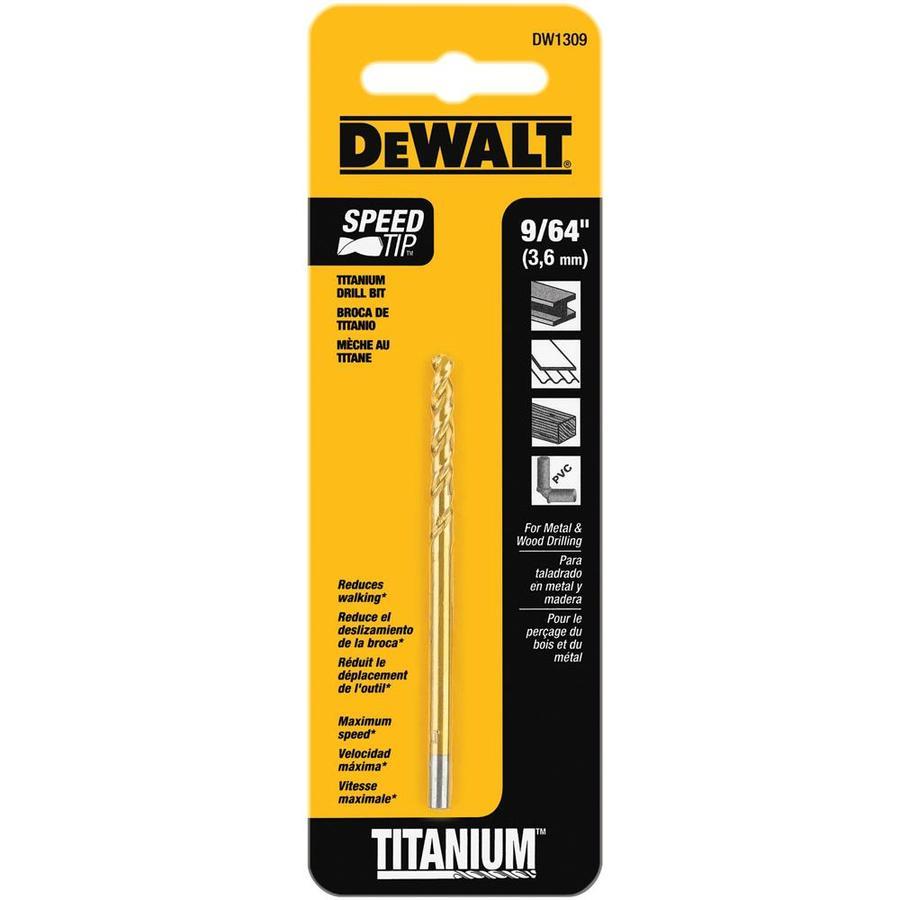 DEWALT 9/64-in Titanium Twist Drill Bit