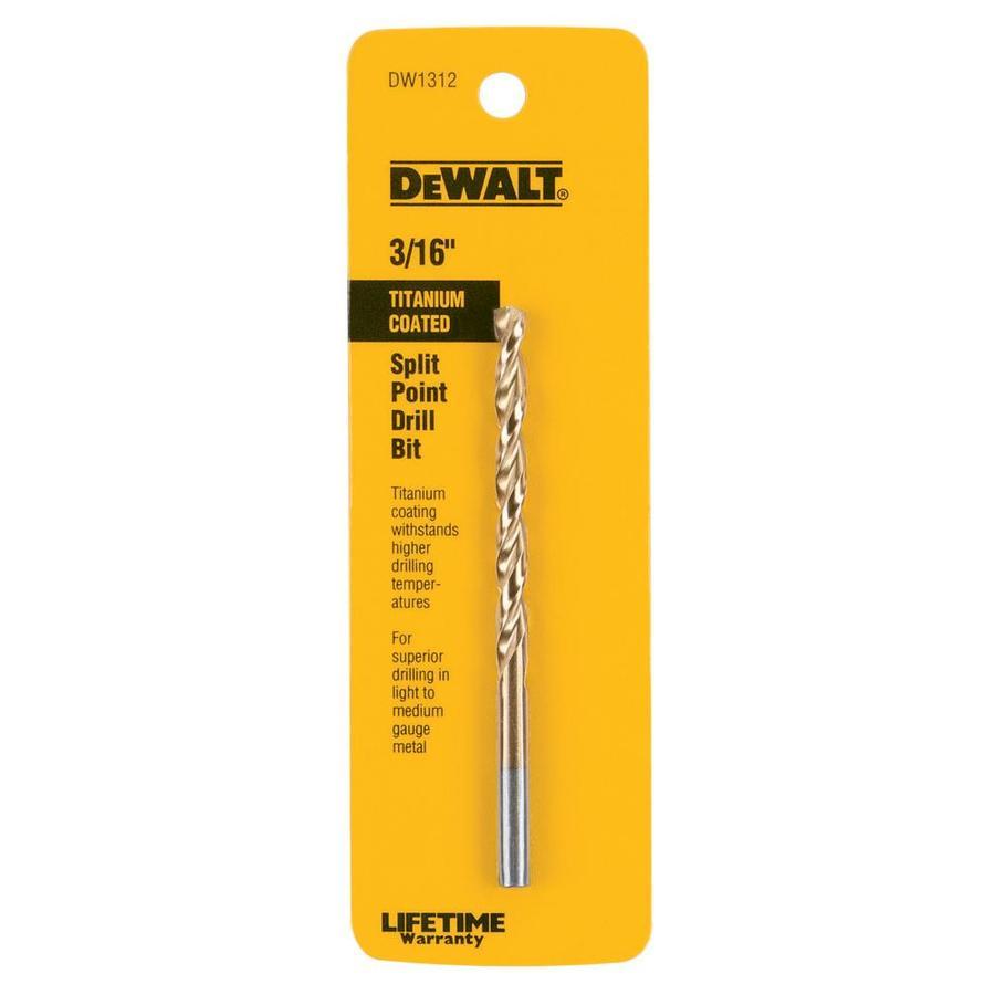 DEWALT 3/16-in Titanium Twist Drill Bit
