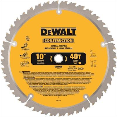 DEWALT Construction 10-in 40-Tooth Segmented Carbide Miter