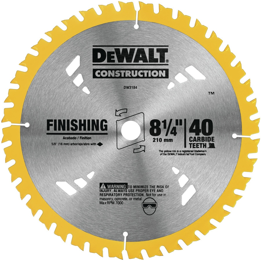 DEWALT Construction 8-1/4-in 40-Tooth Segmented Carbide Tooth Circular Saw Blade