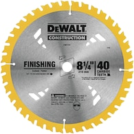 Dewalt Construction 8-1/4-in 40-Tooth Circular Saw Blade Deals