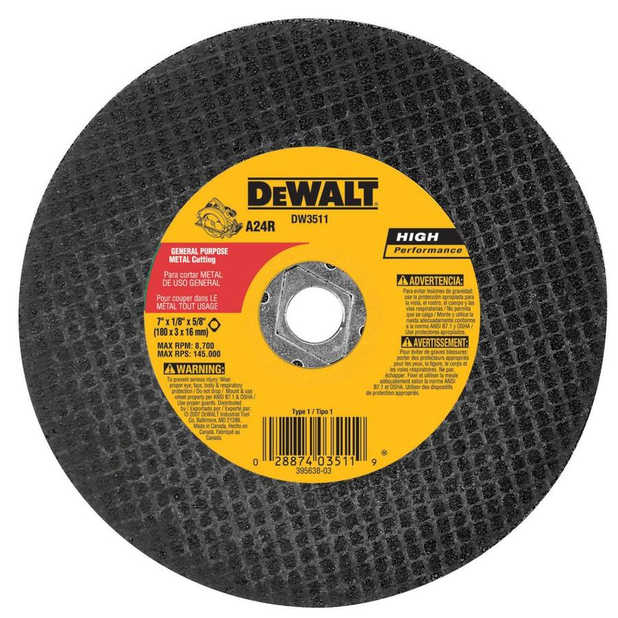 Dewalt 7 In Turbo High Performance Aluminum Oxide Circular