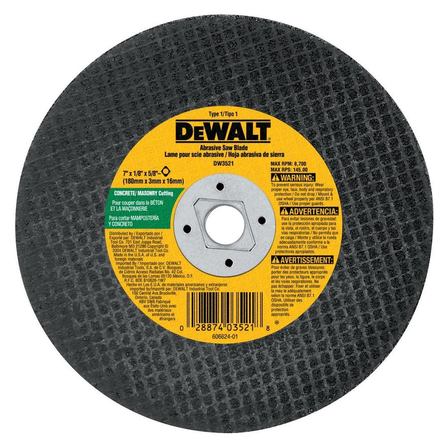 DEWALT 7-in Dry Turbo Carbide Circular Saw Blade