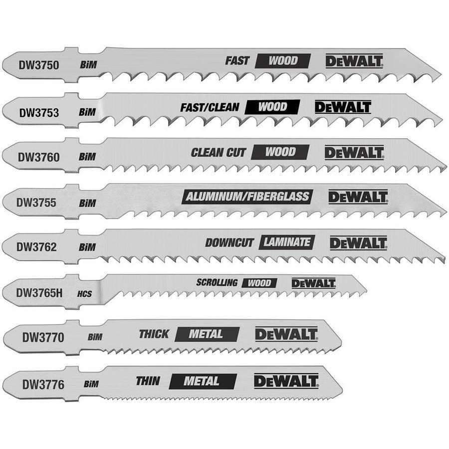 DEWALT 8-Pack T-Shank Jigsaw Blade Set