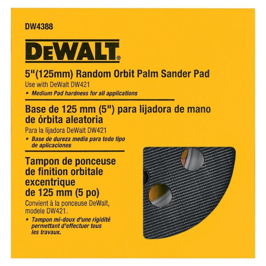 DEWALT 5-in 8-Hole Hook & Loop Pad