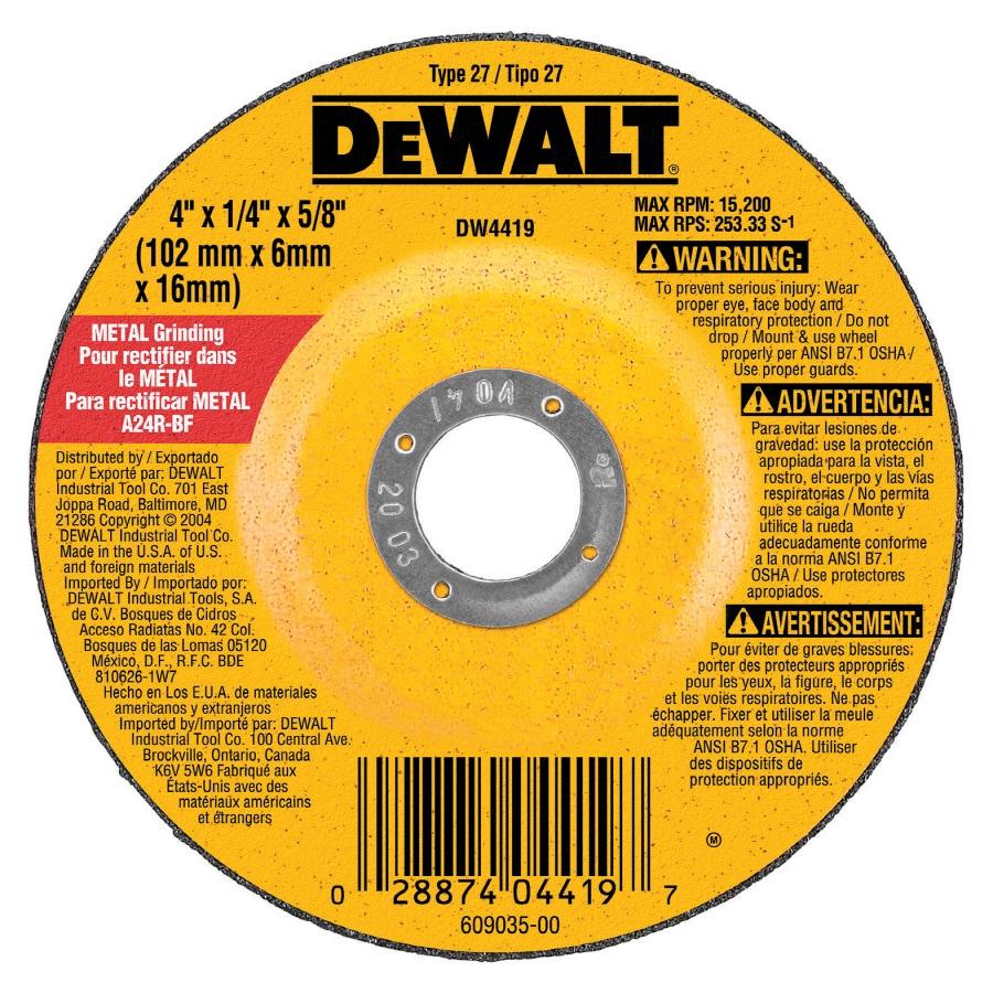 DEWALT Aluminum Oxide 4-in Grinding Wheel